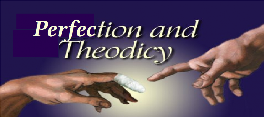 The hand of God touching a wounded hand of man representing perfections involvement with imperfection